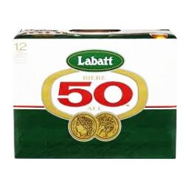 Bière Labatt 50 5%alc 12 Canettes 355 mL
