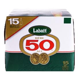 Bière Labatt 50 5%alc 15 Bouteilles 341 mL