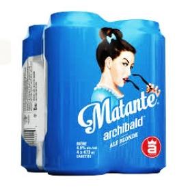 Bière Matante Archibald 4.9%alc 4 Canettes 473 mL