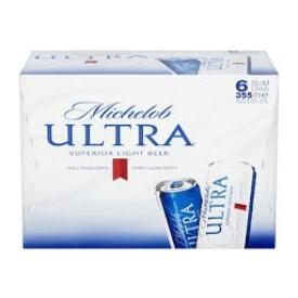 Bière Michelob Ultra 4%alc 6 Canettes 355 mL