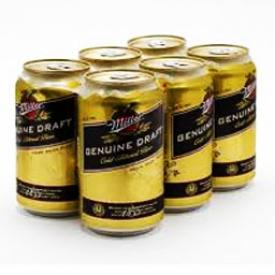 Bière Miller Genuine Draft 4.7%alc 6 Canettes