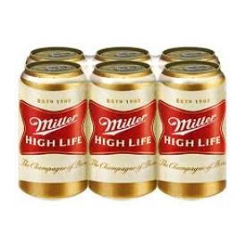 Bière Miller Hight Life 4.6%alc 6 Canettes 355 mL