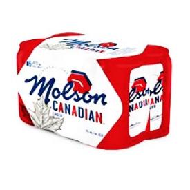 Bière Molson Canadian Lager 5%alc 6 Canettes 355 mL