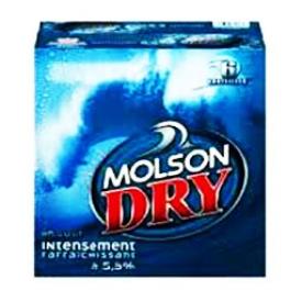 Bière Molson Dry 5.5%alc 6 Bouteilles 341 mL