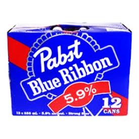 Bière Pabst Blue Ribbon 5,9%alc 12 Canettes 355 mL