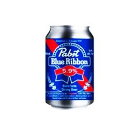 Bière Pabst Blue Ribbon 5.9%alc Canette 355 mL