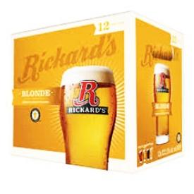 Bière Rickard's Blonde 5%alc 12 Bouteilles 341 mL