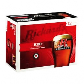 Bière Rickard's Red 5.2%alc 12 Canettes 355 mL