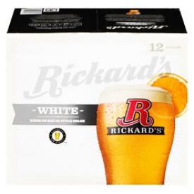 Bière Rickard's White 5.4%alc 12 Bouteilles 341 mL