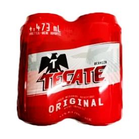 Bière Tecate Originale 4.5%alc 4 Canettes 473 mL