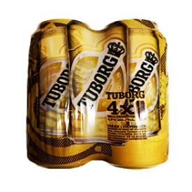 Bière Tuborg 5.5%alc 4 Canettes 500 mL