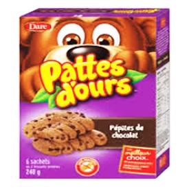 Biscuits Pattes D'ours Pépite de Chocolat 240g
