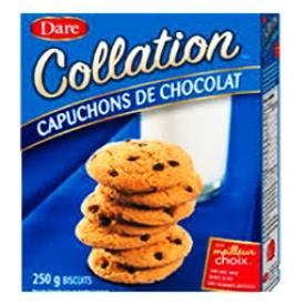 Biscuits Collation Dare Capuchons de Chocolat 250g