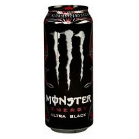 Boisson Énergisante Monster Ultra Black Zéro Sucre 473 mL