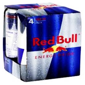 Boisson Énergisante Red Bull 4 Canettes