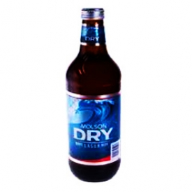 Bière Molson Dry Lager 5.5%alc Bouteille 1.18L