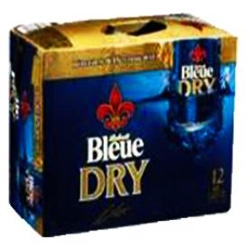 Bière Bleue Dry 6.1%alc 12 Canettes 355 mL