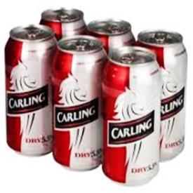 Bière Carling Dry 5.5%alc 6 Canettes 355 mL