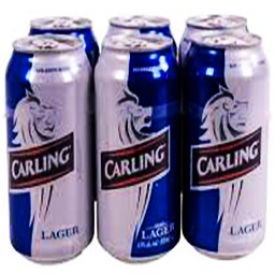 Bière Carling lager 4.9%alc 6 canettes 355 mL