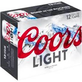 Bière Coors Light 4%alc 12 Canettes 355 mL