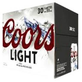 Bière Coors Light 4%alc 30 Canettes 355 mL