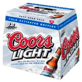 Bière Coors Light 4%alc 12 Bouteilles 341 mL