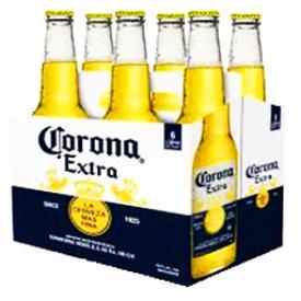 Bière Corona Extra 4.6%alc 6 Bouteilles 330 mL
