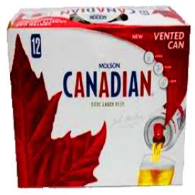 Bière Molson Canadian 5%alc 12 Canettes 355 mL