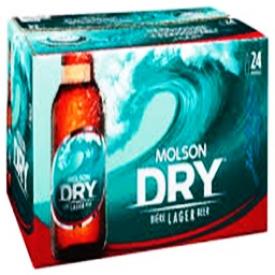 Bière Molson Dry 5.5%alc 24 Bouteilles 341 mL