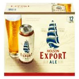Bière Molson Export Ale 5%alc 12 Canettes 355 mL