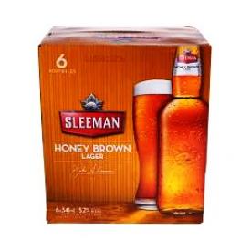 Bière Sleeman Honey Brown Lager 5.2%alc 6 Bouteilles 341 mL