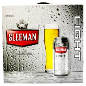 Bière Sleeman Light 4%alc 12 Canettes 355 mL