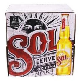 Bière Sol Original 4.5%alc 12 Bouteilles 330 mL