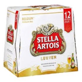 Bière Stella Artois 5.2%alc 12 Bouteilles 330 mL