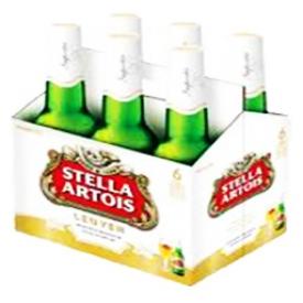 Bière Stella Artois 5.2%alc 6 bouteilles 330 mL