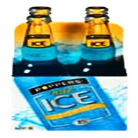 Bière Poppers Wild 7%alc 4 Bouteilles 341 mL