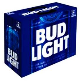 Bière Bud Light 4%alc 12 Canettes 355 mL