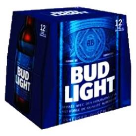 Bière Bud Light 4%alc 12 Bouteilles 341 mL