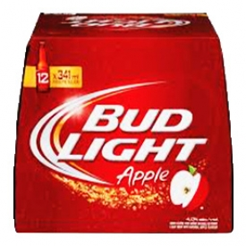 Bière Bud Light Apple 4%alc 12 Bouteilles 341 mL