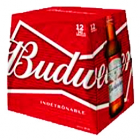 Bière Budweiser 5%alc 12 bouteilles 341 mL