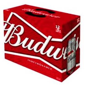 Bière Budweiser 5%alc 12 Canettes 355 mL