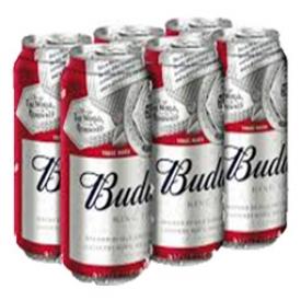 Bière Budweiser 5%alc 6 Canettes 473 mL
