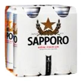 Bière Sapporo 5%alc 4 Canettes 500 mL