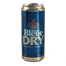 Bière Bleue Dry 6.1%alc Canette 740 mL