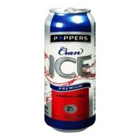 Bière Poppers Cran 7%alc Canette 473 mL
