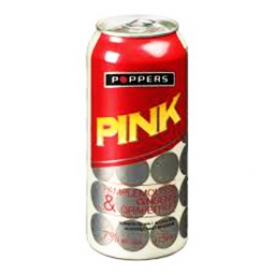 Bière Poppers Pink Pamplemousse Ginseng 7%alc Canette 473 mL