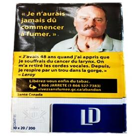 Carton de Cigarette LD Bleu RS 10×20