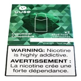 Cartouches 2x Saveur:Concombre 5% de Nicotine