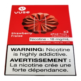 Cartouches 2x Saveur:Fraise 1.6% de Nicotine