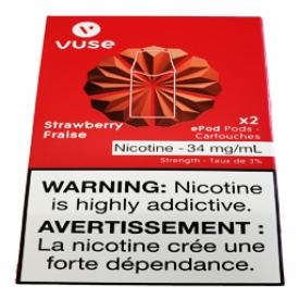 Cartouches 2x Saveur:Fraise 3% de Nicotine